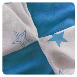 XKKO - Bambusové ubrousky 30x30 Cyan Stars Mix (9ks)