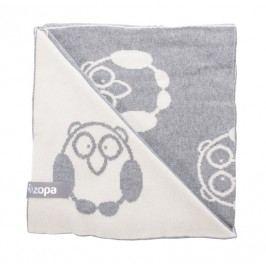 ZOPA - Dětská deka Little Owl, Grey