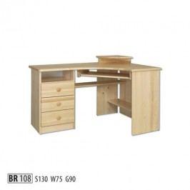 Psací stůl BR108 masiv borovice