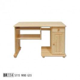 Psací stůl BR114 masiv borovice
