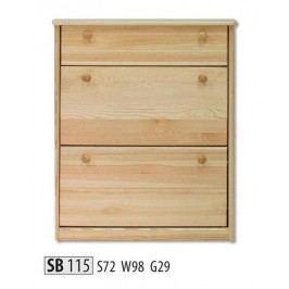 Botník SB115 masiv borovice
