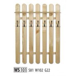 Věšák WS101 masiv borovice