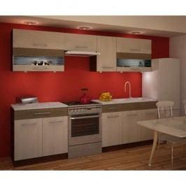 Kuchyňská linka JURA NEW IA ZS 2.6m, rigoleto light/dark/sklo