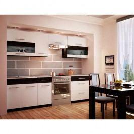 Kuchyňská linka JURA NEW B ZS 2,6 m, bílá / venge