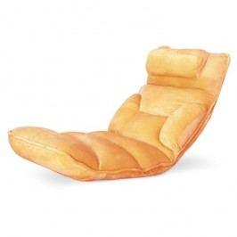 Relaxační křeslo LOTA, látka oranžová