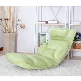 Relaxační křeslo LOTA, látka zelená