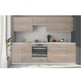Kuchyňská sestava LINE 2,6m, dub sonoma
