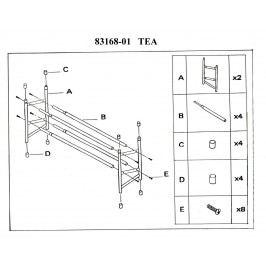 Botník nastavitelný TEA, chrom