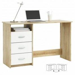 PC stůl LARISTOTE 101000, dub sonoma/bílá