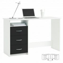 PC stolek LARISTOTE 304375, bílá/černá