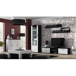 Cama RTV stolek SOHO 180 S-3, černá matná/bílý lesk