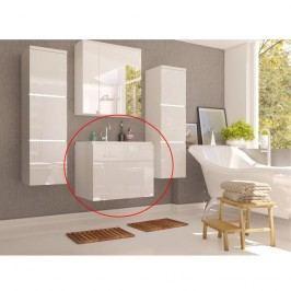 Skříňka pod umyvadlo, bílá / bílý HG, MASON WH13