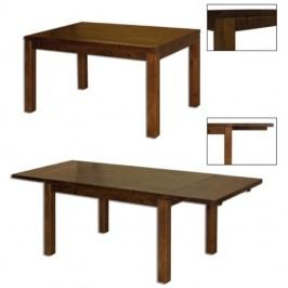 Jídelní stůl ST172 s140 masiv buk, šířka desky 4 cm, 2 křídla buk přírodní   Hrana - D