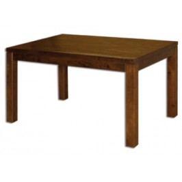 Jídelní stůl st302 s160 masiv dub, šířka desky 2,5 cm, 1 křídlo dub přírodní   Hrana - D