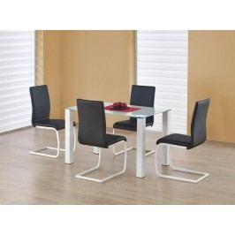 Skleněný jídelní stůl Merlot - obdelník bílá