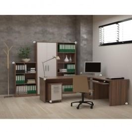 Kancelářská sestava, švestka/bílá, JOHAN NEW