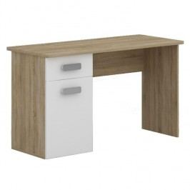 Pc stůl, DTD laminovaná, dub sonoma / bílá, TERNI