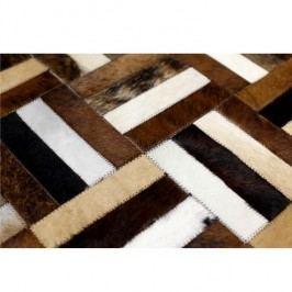 Luxusní koberec, kůže, typ patchworku, 120x180 cm, KOBEREC KOŽA typ2
