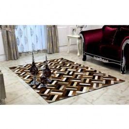Luxusní koberec, kůže, typ patchworku, 200x300 cm, KOBEREC KOŽA typ2