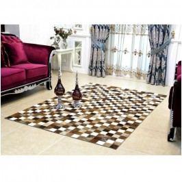 Luxusní koberec, kůže, typ patchworku, 168x240 cm, KOBEREC KOŽA typ3