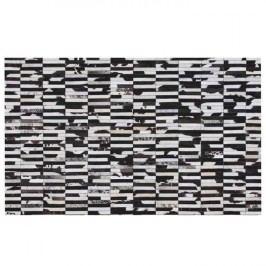 Luxusní koberec, kůže, typ patchworku, 69x140 cm, KOBEREC KOŽA typ6
