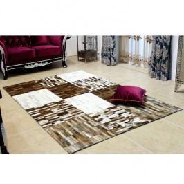 Luxusní koberec, kůže, typ patchworku, 141x200 cm, KOBEREC KOŽA typ4