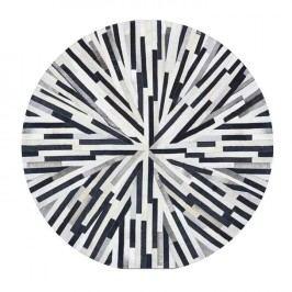 Luxusní koberec, kůže, typ patchworku, 150x150 cm, KOBEREC KOŽA typ8