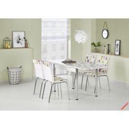 Skleněný jídelní rozkládací stůl Stanbul 1