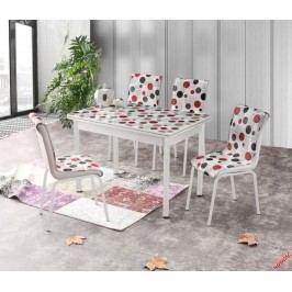Skleněný jídelní rozkládací stůl Stanbul 4