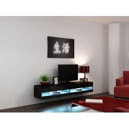 Cama RTV stolek VIGO NEW, černá matná/černý lesk - druhá jakost
