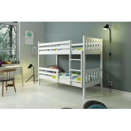 b2b1 BMS-group Patrová postel bez zásuvky CARINO 90x200 cm, bílá/bílá Pěnová matrace