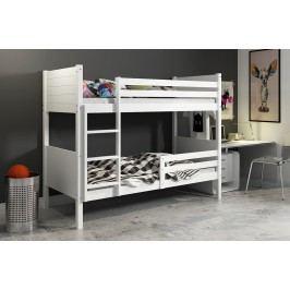 b2b1 BMS-group Patrová postel bez zásuvky CLIR 90x200 cm, bílá/bílá Pěnová matrace