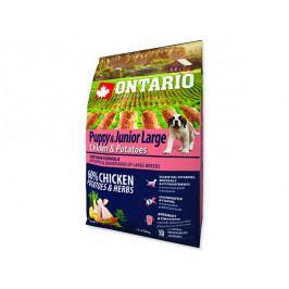 ONTARIO Puppy & Junior Large Chicken & Potatoes & Herbs 2,25kg