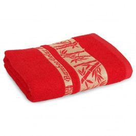 Bambusový ručník Bonia červený 50x90 cm Ručník