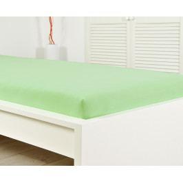 Jersey napínací prostěradlo světle zelené Jednolůžko Bavlna - jersey
