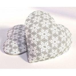 Dekorační polštářek Floral Heart 33x33 cm polyester