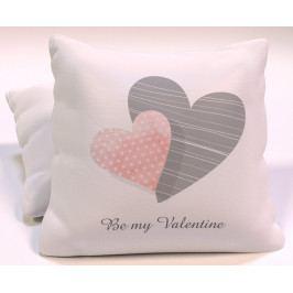 Dekorační polštář Be my Valentine II 40x40 cm polyester