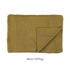 Pletený pléd Marc O Polo Nordic Oil Yellow 130x170 cm žlutá