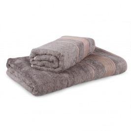 Set 2 bambusových ručníků Moreno tmavě šedý Set Dvoudílný set