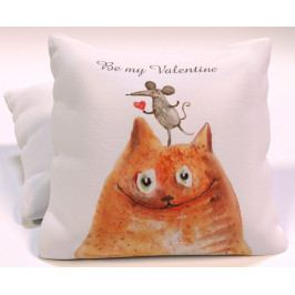 Dekorační polštář Be my Valentine 40x40 cm polyester