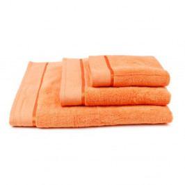 Ručník mikrobavlna oranžový 70x140 cm Osuška