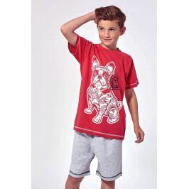 Chlapecké pyžamo Hipster  šedočervená
