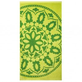 Plážová osuška Mandala zelená  zelena