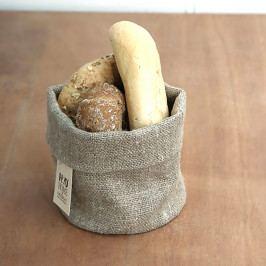 Košík na pečivo lněný S Výška: 12 cm, průměr: 15 cm béžová