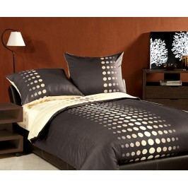 Povlečení Choco brown XQ jednolůžko - standard; přikrývka: 1ks 140x200 cm; polštář: 1ks 70x80 cm; Bavlněný satén