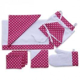 Příslušenství ke grilování - růžový puntík 4ks 30x40 cm prostírání