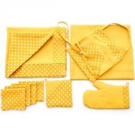 Příslušenství ke grilování - žlutý puntík 4ks 30x40 cm prostírání