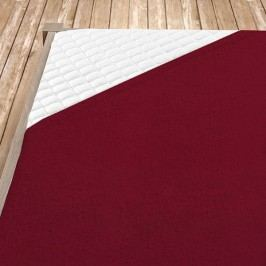 Napínací froté prostěradlo bordó 100x200 cm jednolůžko - standard froté