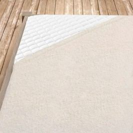 Napínací froté prostěradlo smetanové 140x200 cm jednolůžko Froté