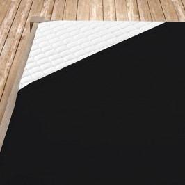 Napínací jersey prostěradlo černé 140x200 cm jednolůžko Jersey